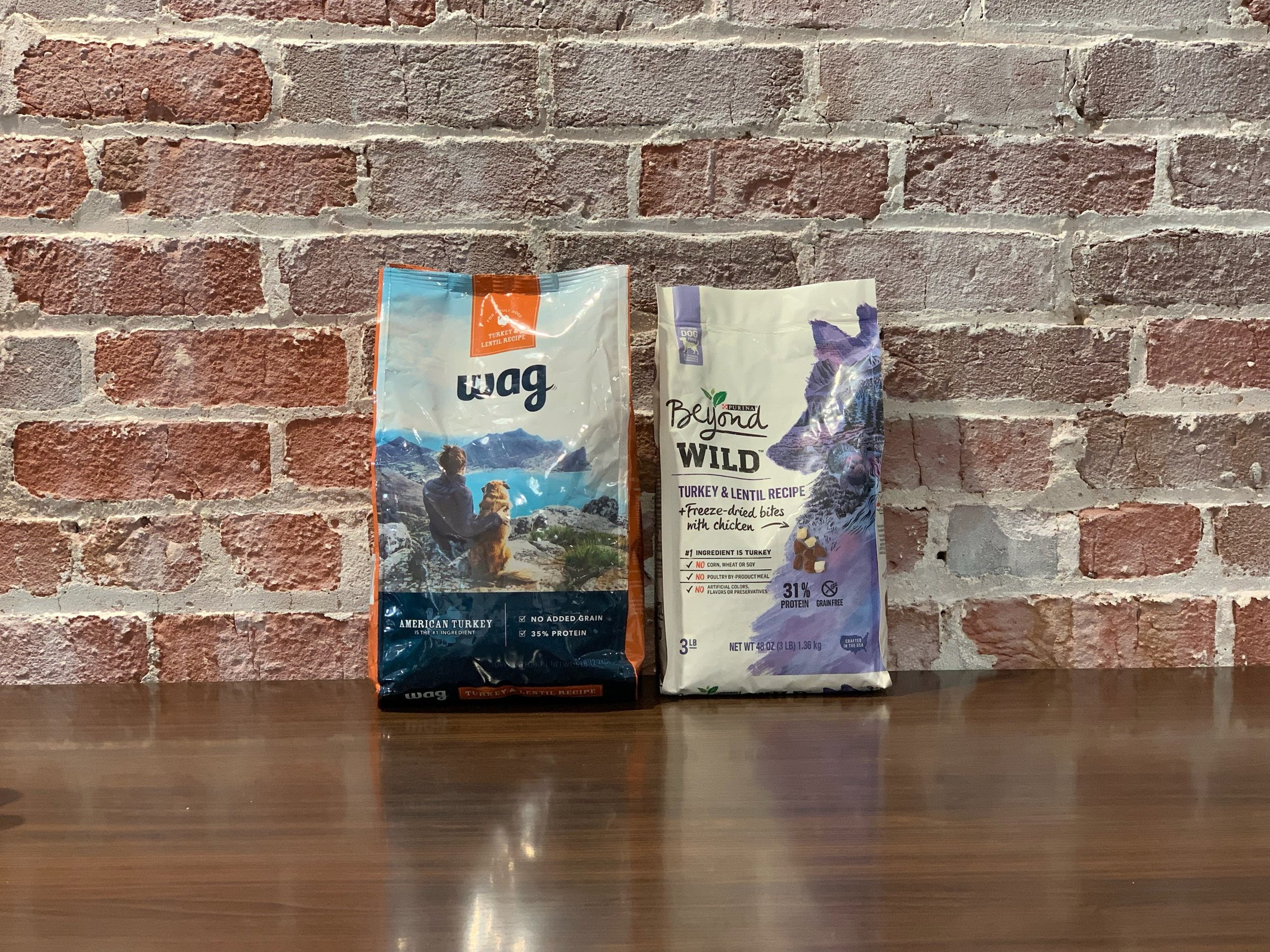 Purina Beyond vs  Amazon Wag Dog Food — Brandefy