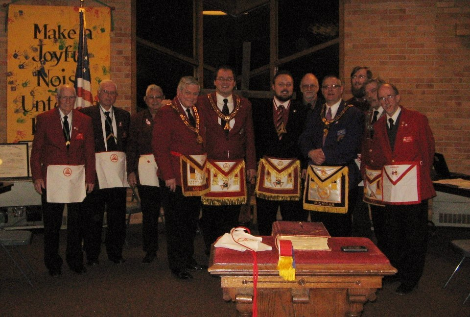 It was a lot of gold in the room for our humble chapter, but it was great to be in company of such wonderful companions and we hope to see them again soon! We send our special thanks to Most Excellent High Priest, David Dossette of the Grand Chapter Royal Arch Masons of Michigan, and Most Illustrious Grand Master, Robert Troutman of the  Grand Council, Royal and Select Masons of Michigan for visiting us this evening.  Brandon Mullins Thrice Illustrious Master