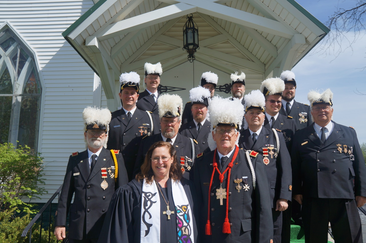 We, along with members of Adrian Commandery No. 4 and other Sir Knights from the Southeastern Battalion had a great Ascension Observance this morning. A special thanks goes out to Raisin Presbyterian Church for having us out today, and our Right Eminent Grand Commander, Sir Knight Cortland Rule, for putting it all together.