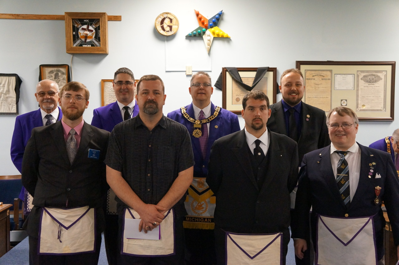 Congratulations to Ann Arbor Council No. 86's newest Super Excellent Masters, Jake Foster and Thane Domrase. And a special thanks goes out to Pontiac Council No. 3 and the Grand Council of Royal & Select Masons of Michigan for putting on this fabulous all degree day.