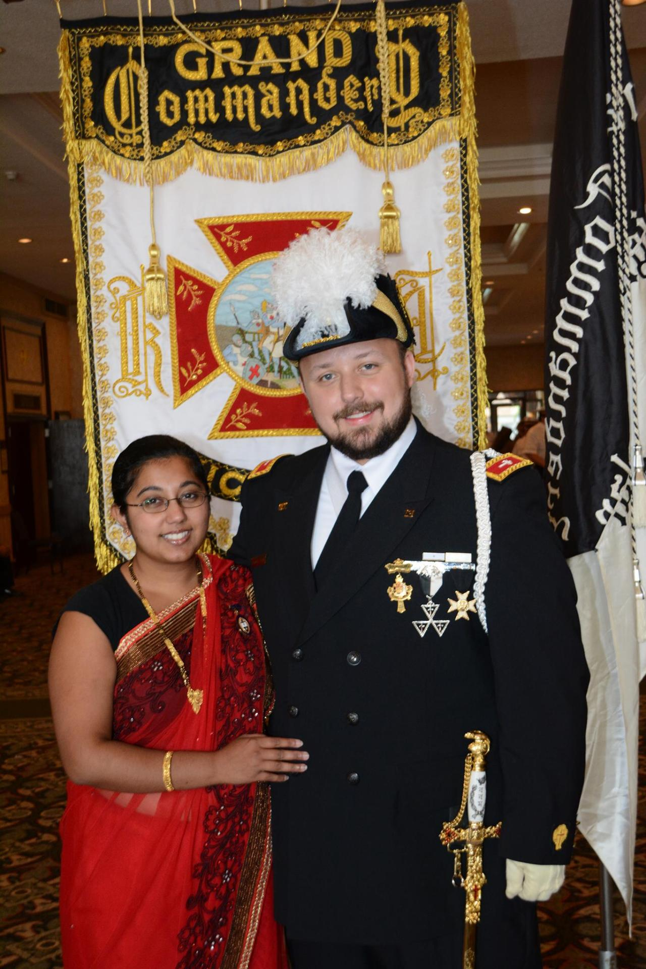 Congratulations to Brandon Mullins, PC for being installed as Southeastern Michigan Battalion Commander after his election to the prestigious post earlier this year. Thanks for your dedicated service to Templary. Companion Brandon, Ann Arbo r Council's Thrice Illustrious Master was also honored with the Grand Master's Service Award and Grand Master's Meritorious award at the Grand Council session, which due to circumstances he was unable to control with his babysitter he was sadly not in attendance to receive these special honors. Thanks for your great efforts in York Rite Masonry Brandon!