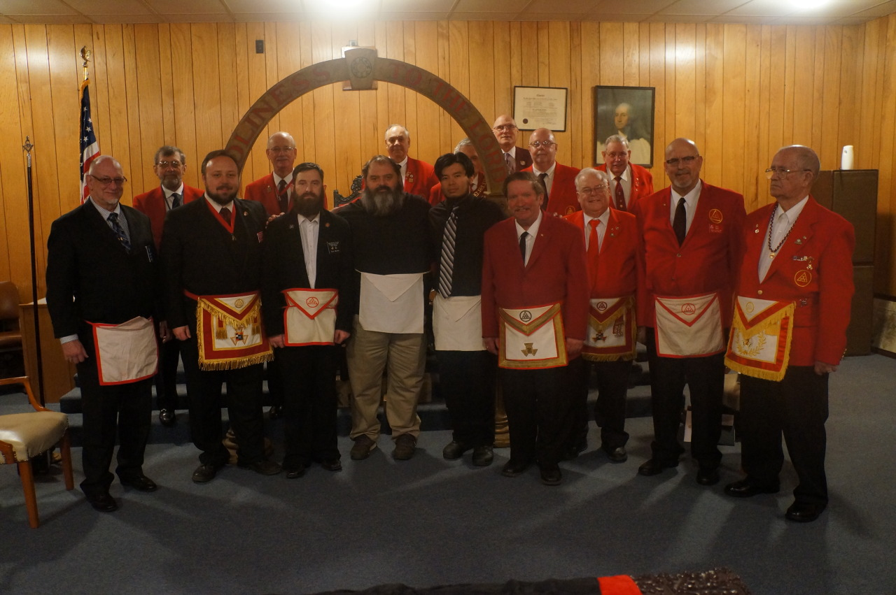 Thanks go out to  Sunlight Chapter 189 Royal Arch Masons , for their fantastic work in conferring the Past Master and Most Excellent Master degrees on our brothers this morning, and congratulations to Chuck Nagy and Albert DeFluri on being received and acknowledged as Most Excellent Masters.