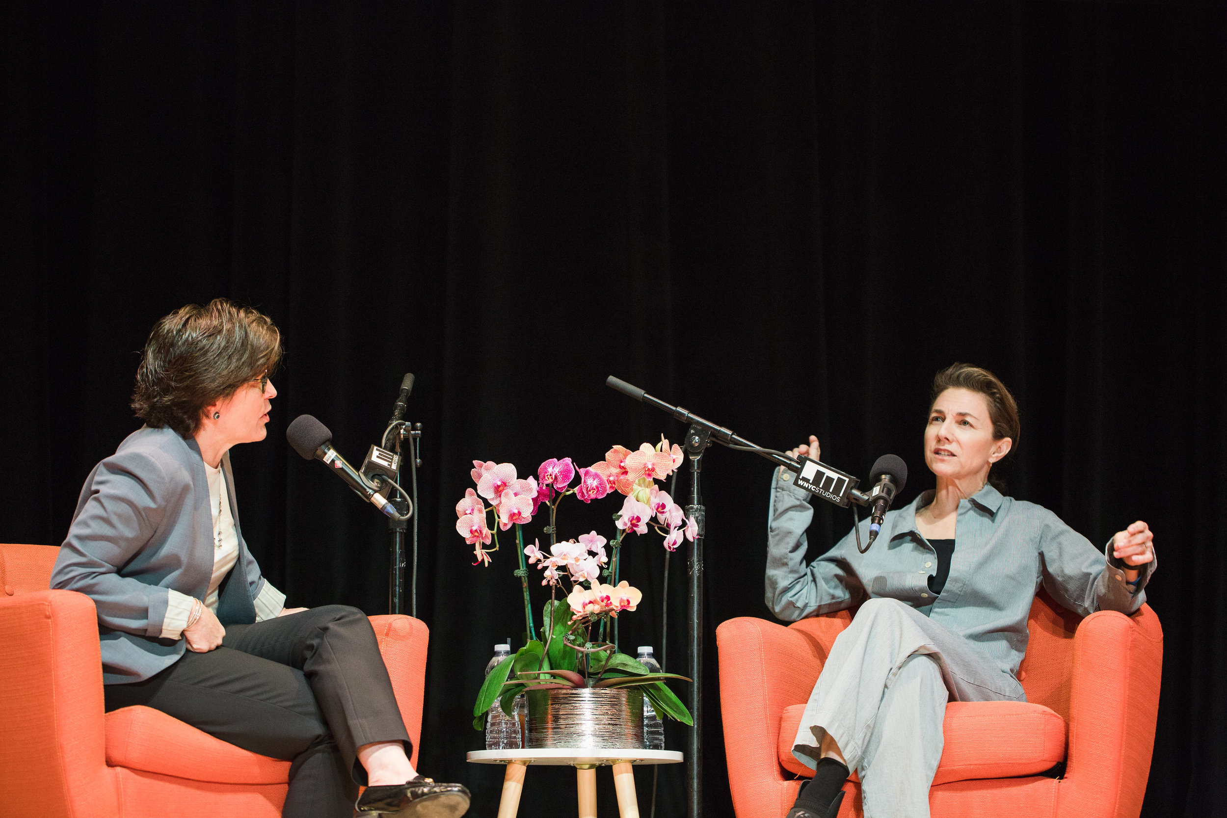 Kara Swisher on stage interview for Recode/Decode