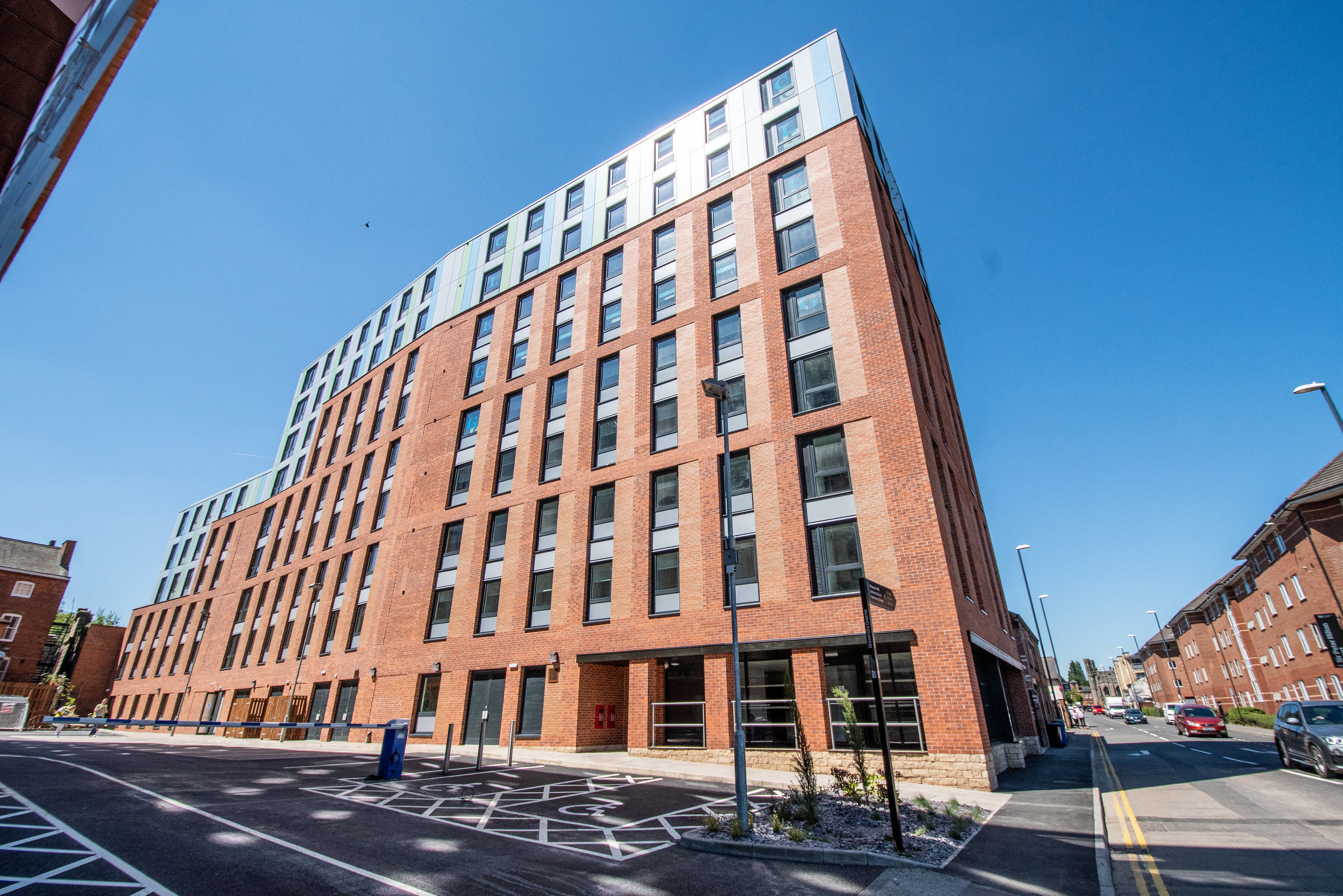 Agard Court, Derby DE1   244 City Centre student residences by Jensco for University of Derby - Occupation 2018