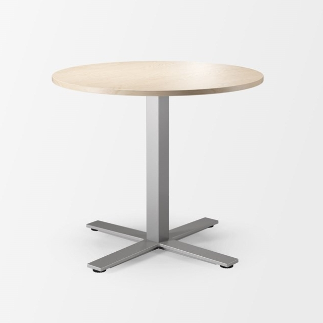Coffee tables are practical and inviting places to gather round. Oberon's versions are perfect for active or short standing meetings or breaks.