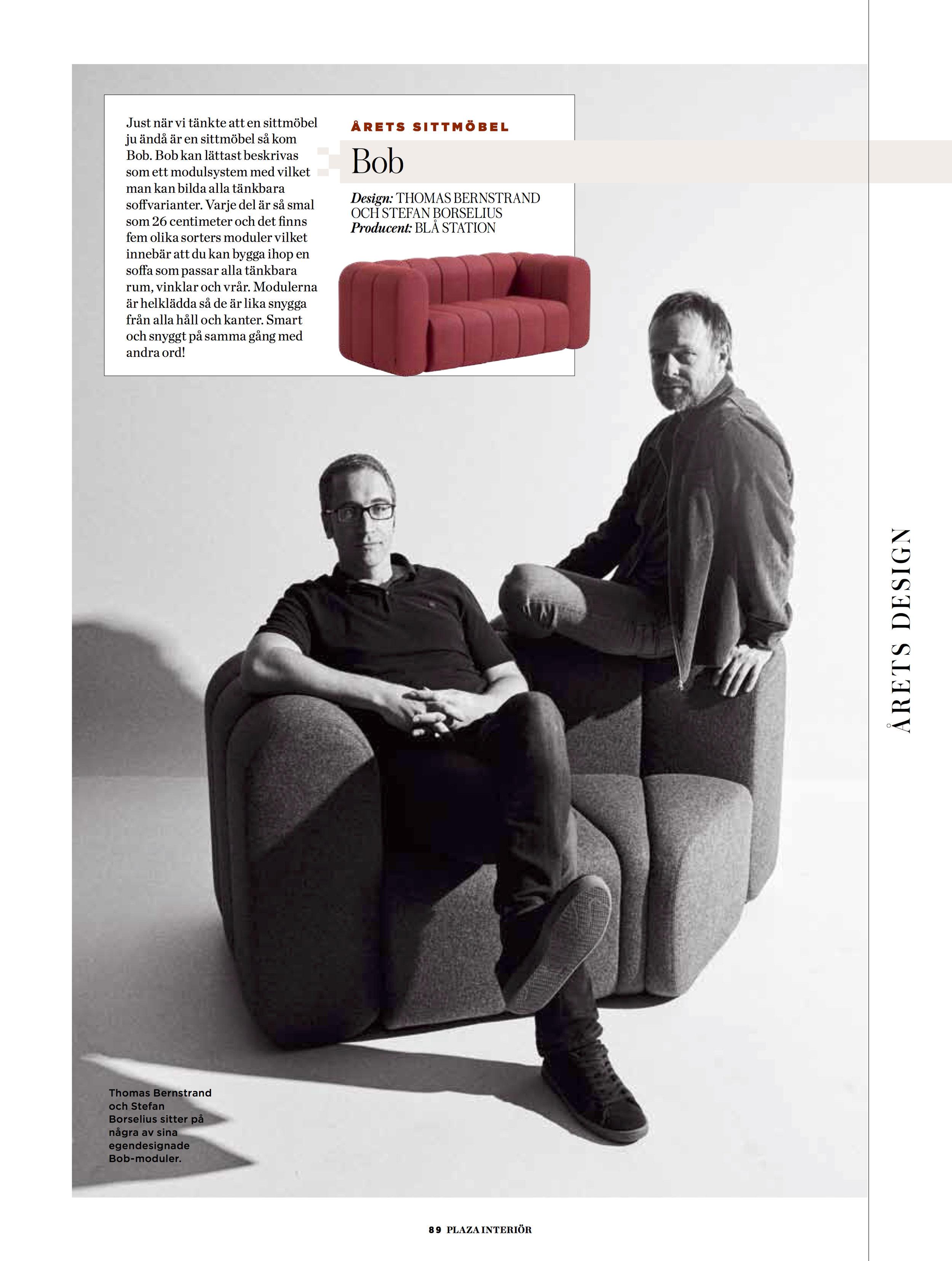 """Winner """"Best Seating Of The Year"""", Plaza Magazine"""