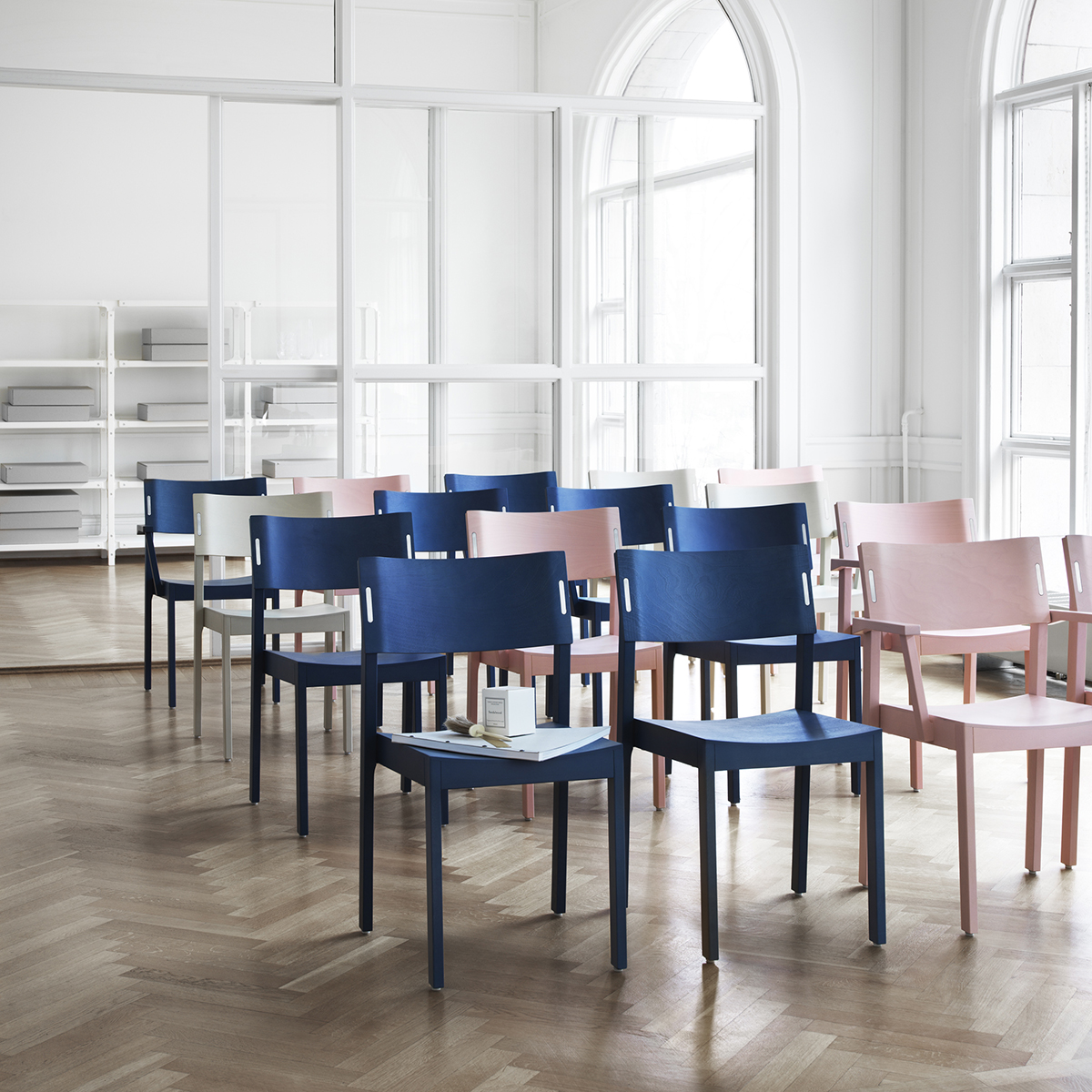 """""""Quietly does it... Classic chair/chair with arms with integral sound absorption material for a good acoustic environment."""" - Ruud Ekstrand (Designer)"""