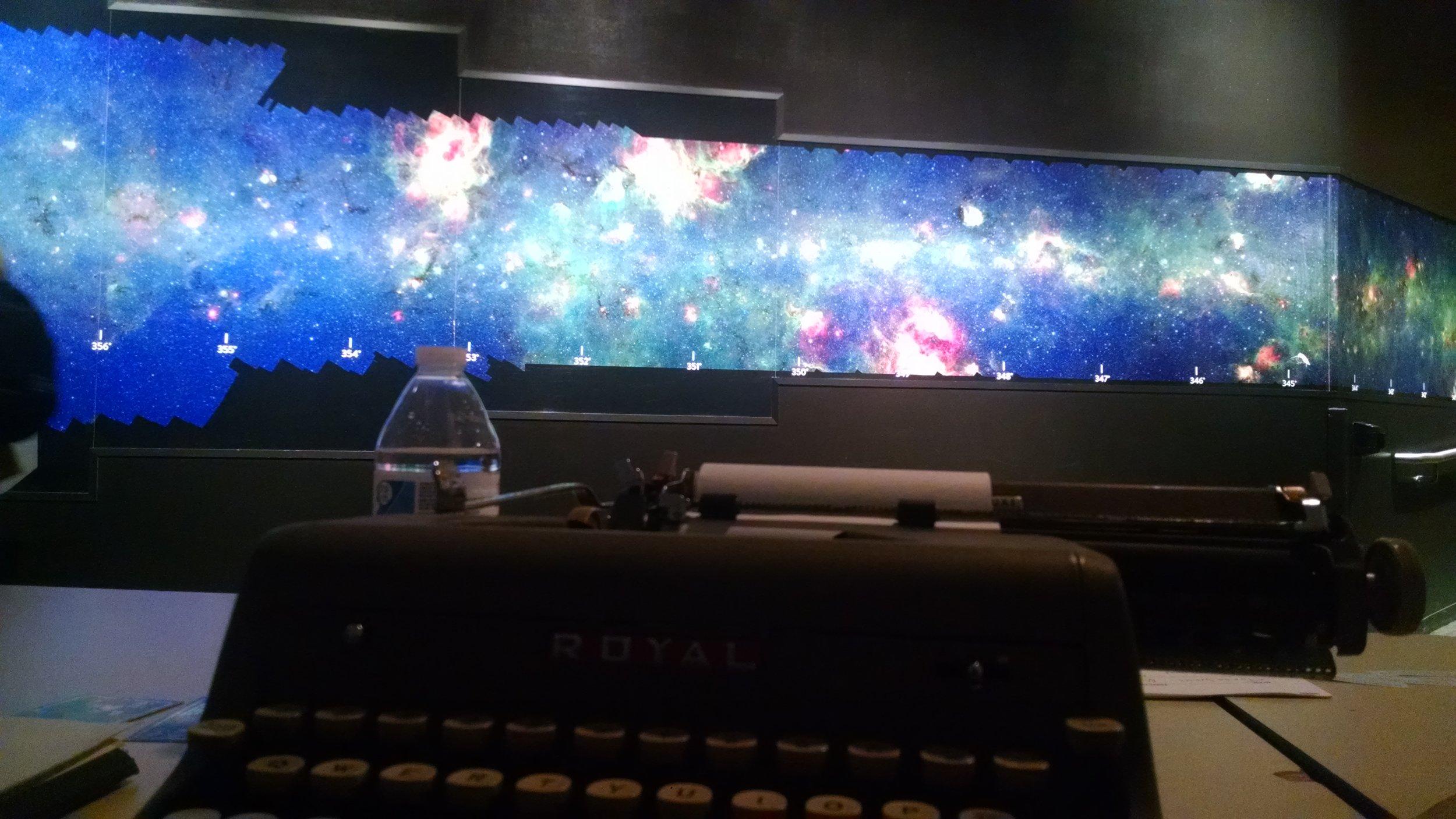 In the sub level of Adler Planetarium