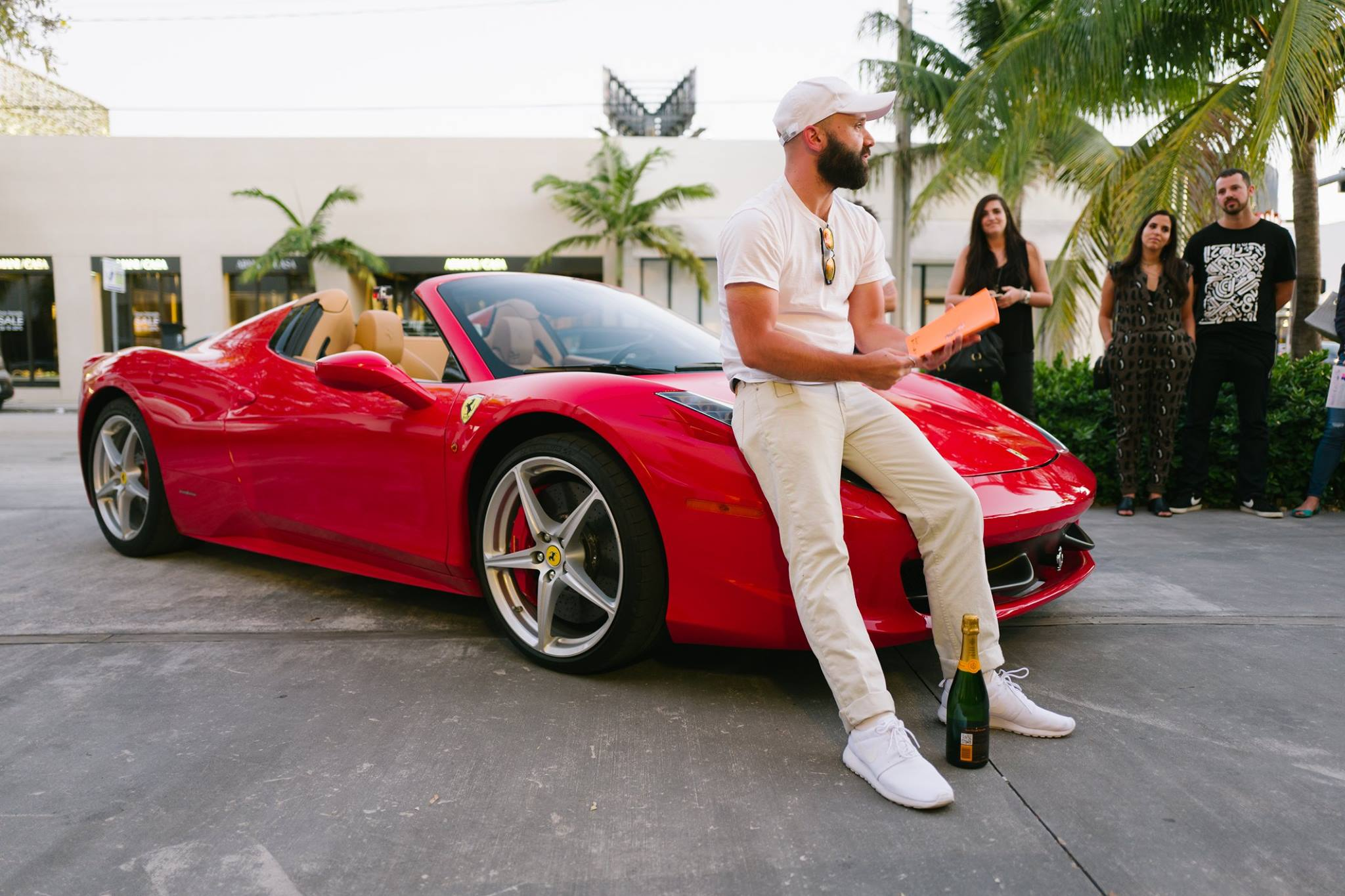 Ferrari 458 Spider with Nike Roshe 1 & Veuve Clicqout Brut -  Primary Projects - Miami, FL.  Photo -  Gesi Schilling