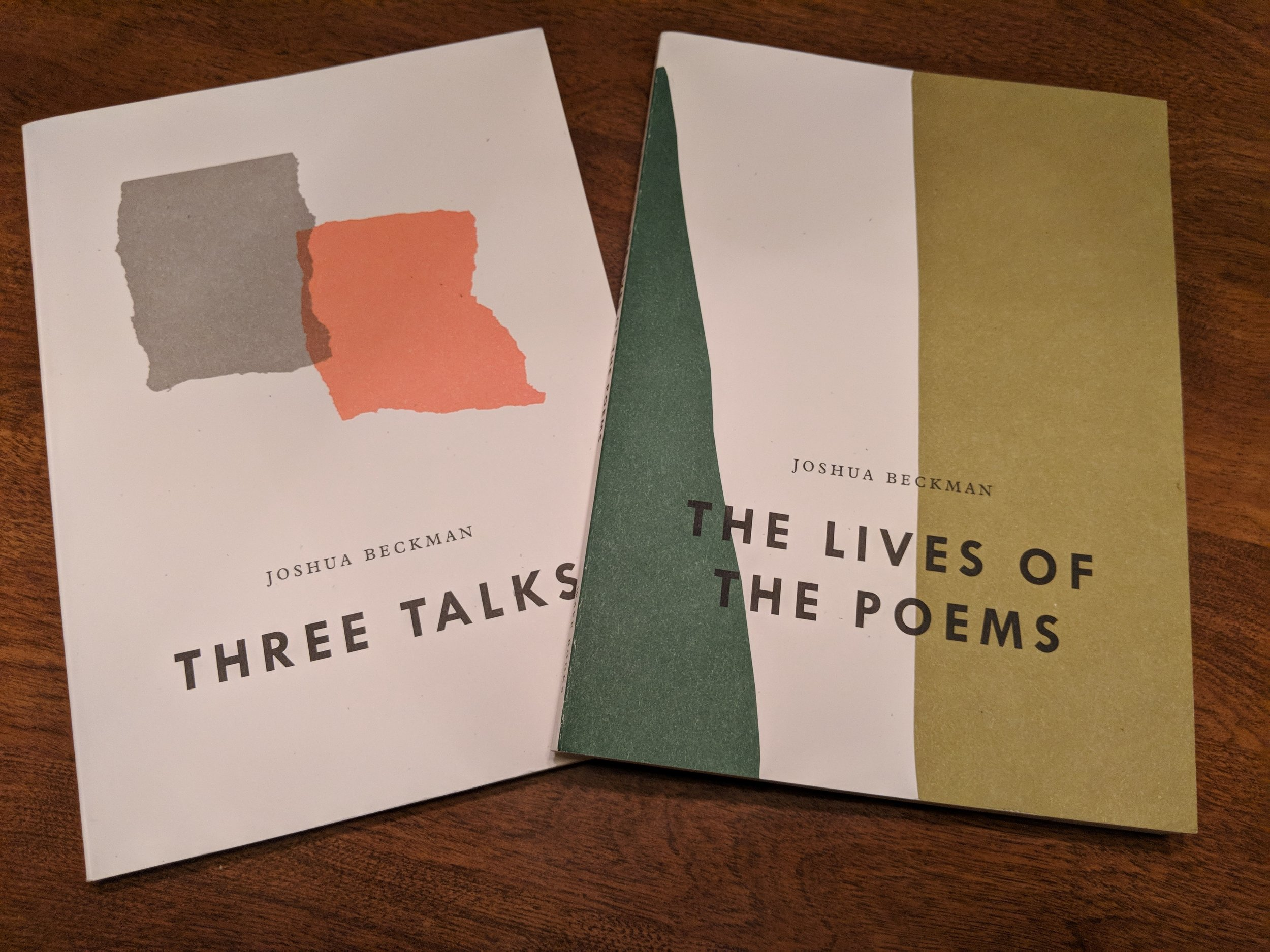 In advance of the workshop we read Beckman's latest projects, two books of poetic essays.
