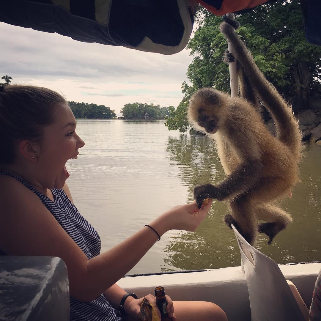 Monkeys on Lake Nicaragua