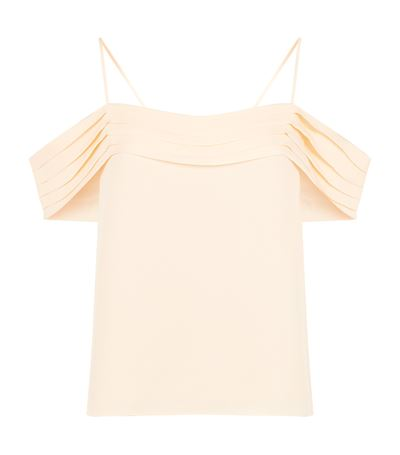 """Pleated Off-the-Shoulder Top """"T""""  by Alexander Wang"""