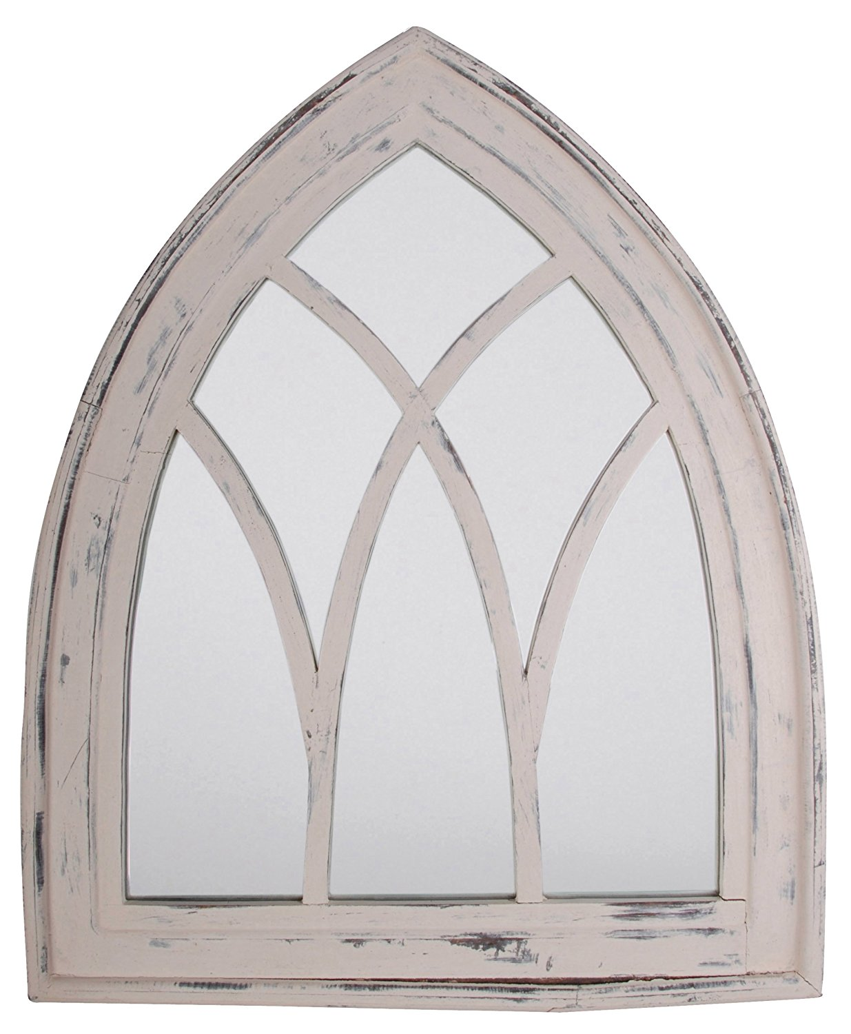 Gothic Mirror - In her Brentwood home, one of the doorways was a Gothic arch. It may not be possible to remodel your home this way, so go the easier rout -- evoke the feel with this Gothic Mirror.