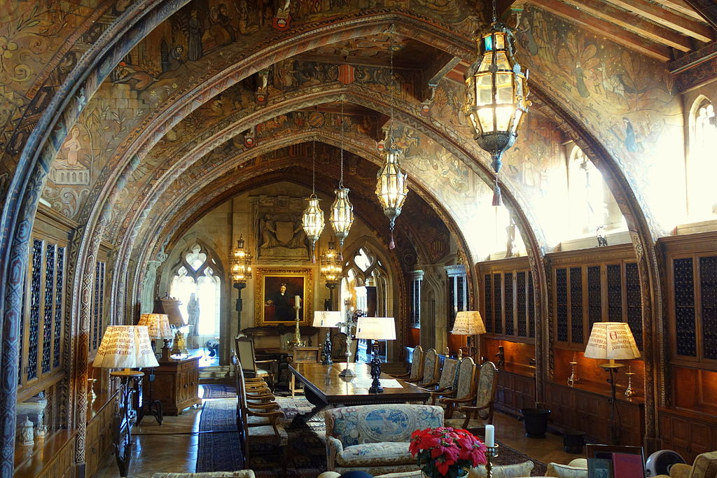 The Gothic Study where William Randolph Hearst's portrait resides -- as well as a few lanterns that swing in a ghostly way?
