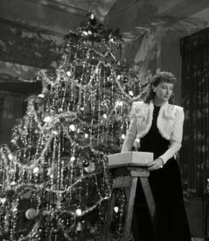 Icicle Tinsel - Used in just about every Christmas tree decorating scene I can think of in every classic holiday film, it's cheap, pretty... heck, why not put it on just about everything that needs a bit of sparkle (except near the fireplace, that probably wouldn't end well).