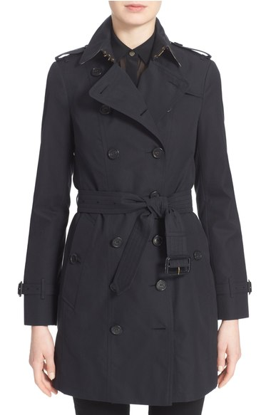 Combat-Style Chic - Burberry pioneered the trench coat, and they continue to do so every year with new colors and trims. Get an original.