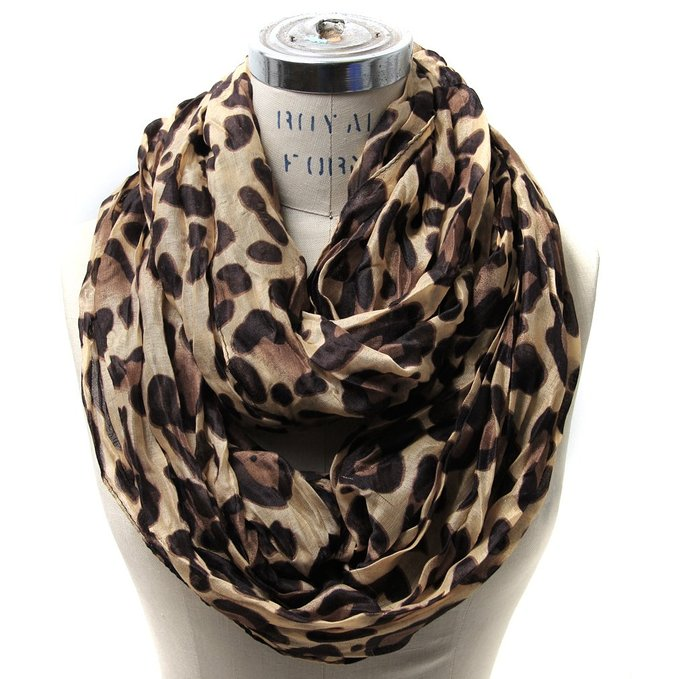 Dip your toes into the leopard print fashion pool with  this stunning infinity scarf  for less than $10.