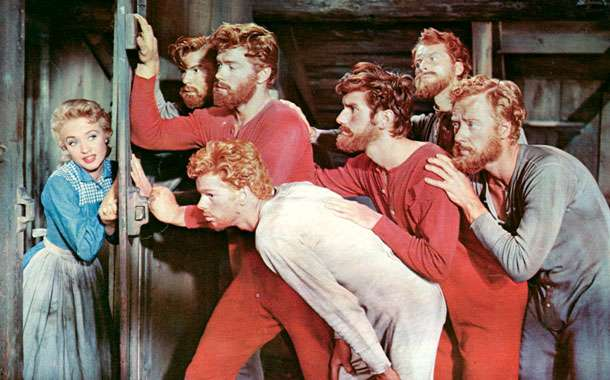 SEVEN BRIDES FOR SEVEN BROTHERS - Ok, technically this one could go for any season with its year-round musical frolics, but the song I always remember chants
