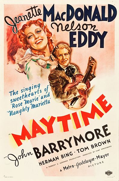 MAYTIME - Naughty Marietta is one of my all-time favorite classic films, so I am excited to see this operetta from the magnificent Nelson Eddy and Jeanette MacDonald team!Click here to watch Maytime