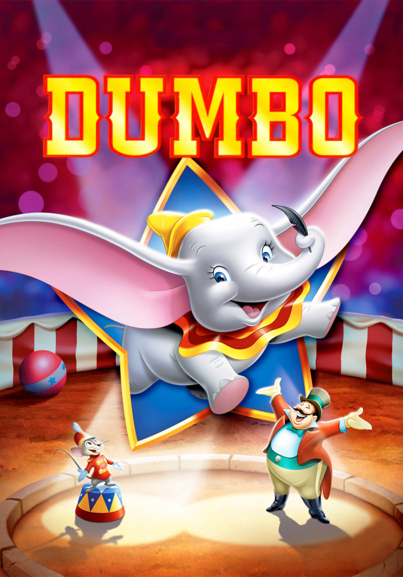 Dumbo - There is nothing cuter than a baby elephant with large ears, unless that same elephant becomes the underdog we are rooting for. When the cruelly nicknamed