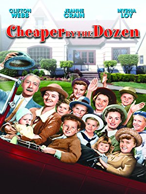 CHEAPER BY THE DOZEN - One of my all-time favorites, and one of the few classic films that I have been able to get a Gen Y-er to sit through without fidgeting. Clifton Webb's stoicism is beyond charming. Stream it on Amazon