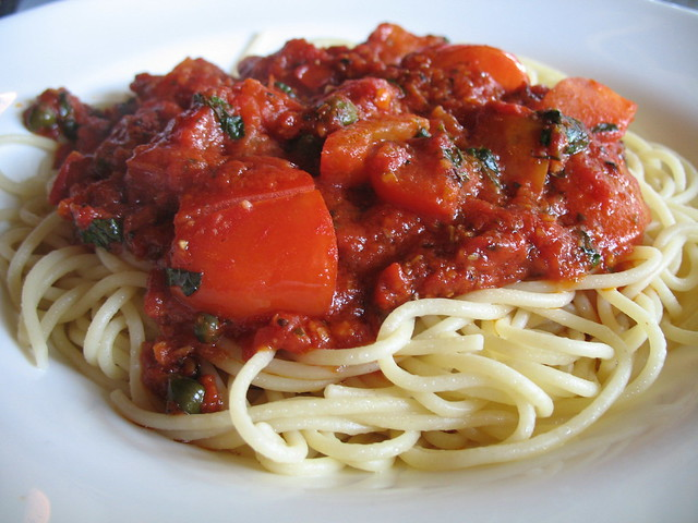 SPAGHETTI AL POMODORO - Reportedly she ate this every week — and I recreated her recipe here.