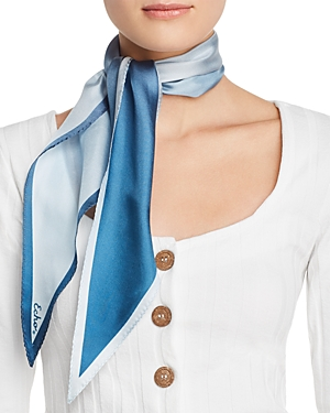 """HEAD SCARVES - She once said, """"When I wear a silk scarf I never feel so definitely like a woman, a beautiful woman.""""I am sure she would have loved this one in Cyan, her favorite color!"""