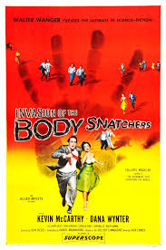 "Invasion of the Body Snatchers - Something is wrong with the neighbors, honey.Perhaps it has to do with those mysterious seed pods that people are finding in their backyards. And the fact that they are producing ""Stepford Wife""-ish duplicates of everyone in the community, one at a time.The creep factor here is effective for the same reasons as Jordan Peele's us — there is something incredibly creepy about a mirror version of us existing somewhere."
