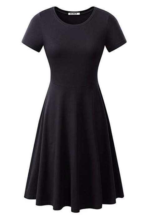 The Little Black Dress - No vintage dress restrospective would be complete without the classic little black dress, a color that looks good on just about everyone.