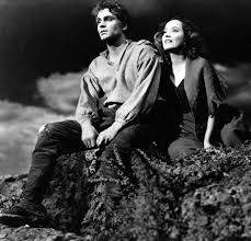 """Laurence Olivier in """"Wuthering heights"""" - This tortured love story makes you want to beat your head against a wall sometimes. But it also was birthed from the classic novel which gave diehard romantics this classic line: """"My love for Heathcliff resembles the eternal rocks beneath: a source of little visible delight, but necessary.""""Why is this a good """"breakup"""" classic movie? Your real-life frustrations can be soothed via vicarious rants. How can she not end up with Heathcliff together after saying something like that?!?!??! Especially a Heathcliff portrayed by Laurence Olivier!?!?"""