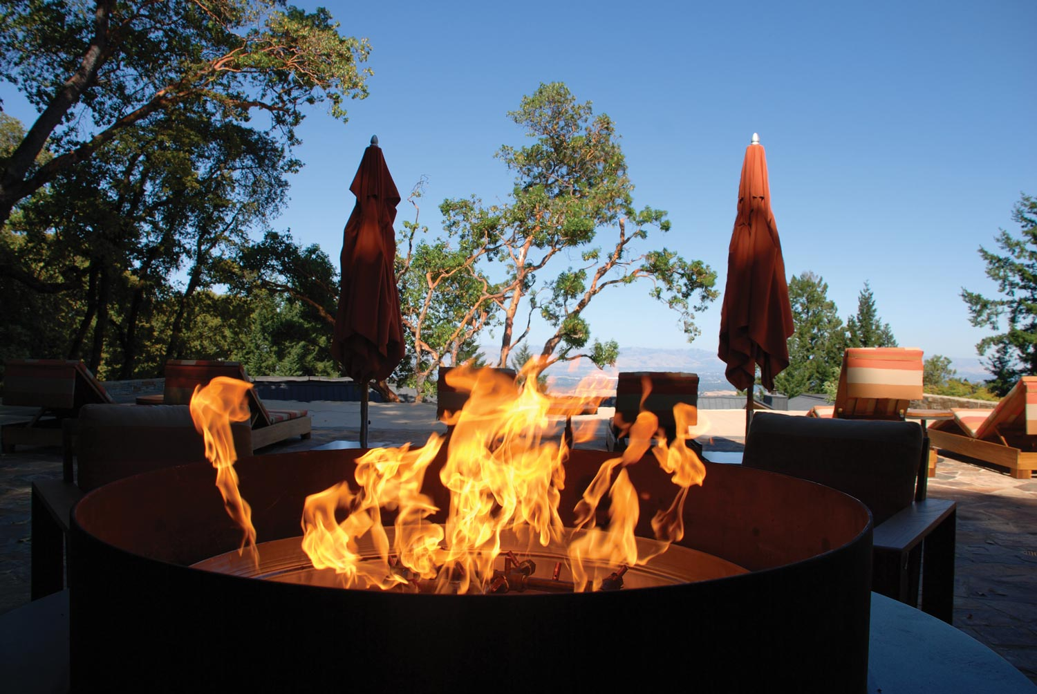 Warming Trends Fire Pits at Chim Chimney Fireplace Pool & Spa