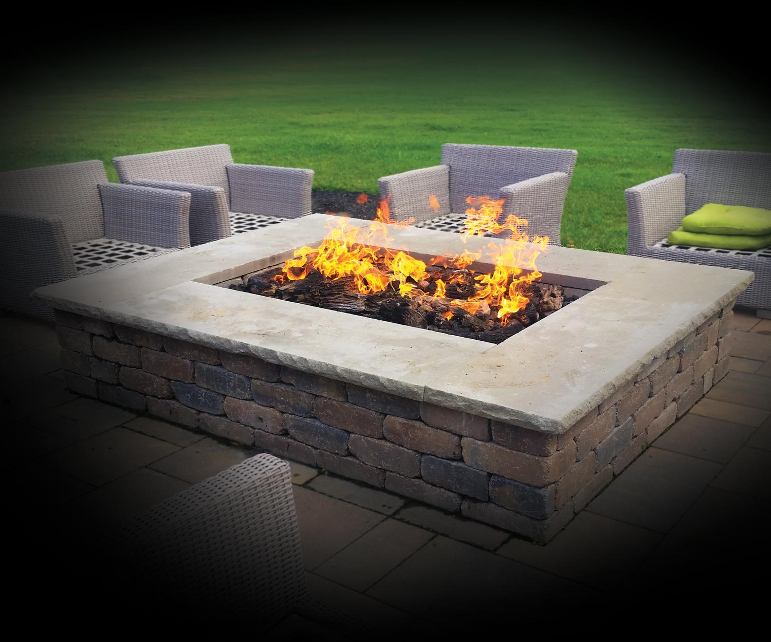 Custom Design Fire Tables at Chim Chimney Fireplace Pool & Spa