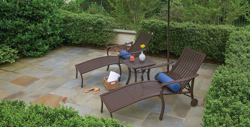 Lounge Set Patio Furniture at Chim Chimney Fireplace Pool & Spa