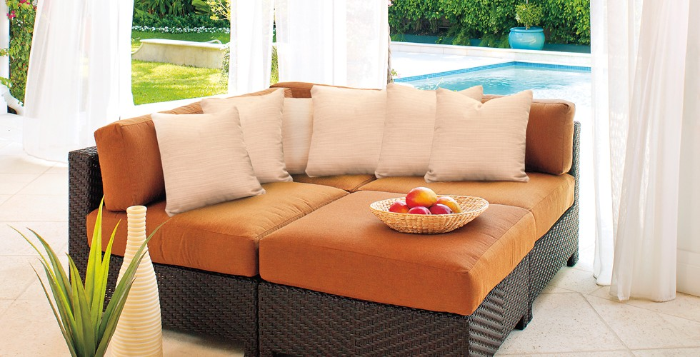 Pool side seating Patio Furniture at Chim Chimney Fireplace Pool & Spa
