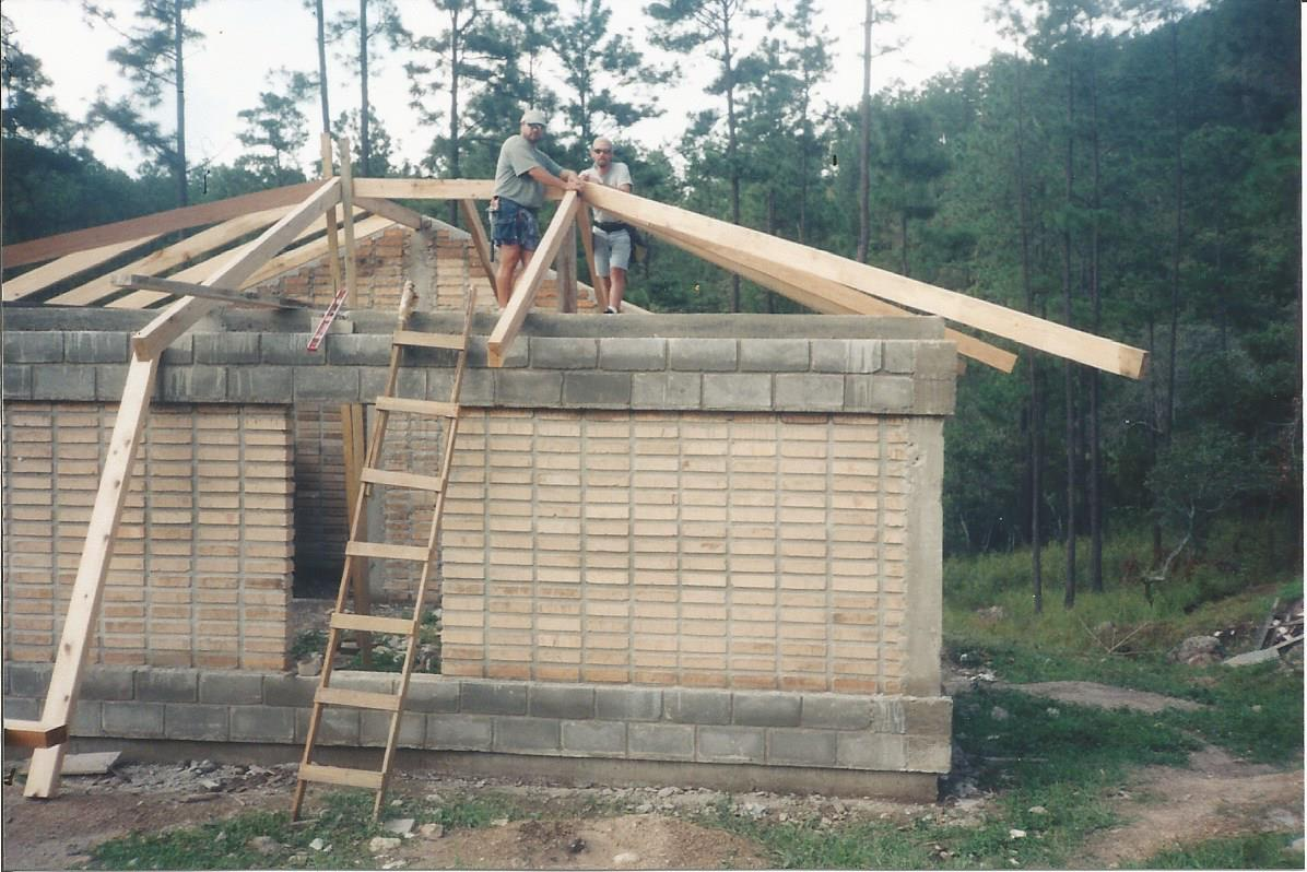 Construction work at Camp Monte
