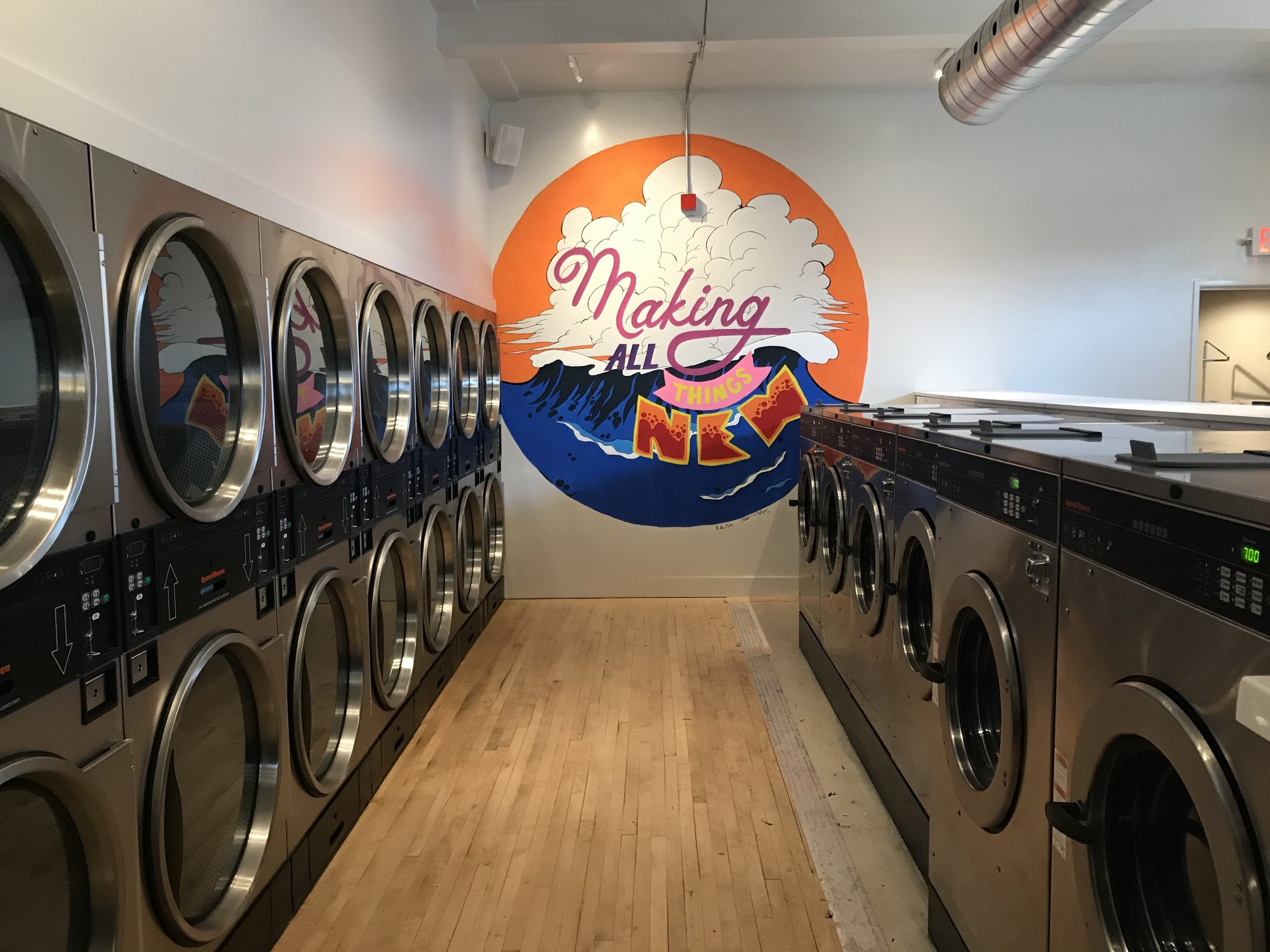 Laundry Mat inside The Commons - When the commons was being developed and the community was engaged on what are the needs a the top of the list was a laundry mat.
