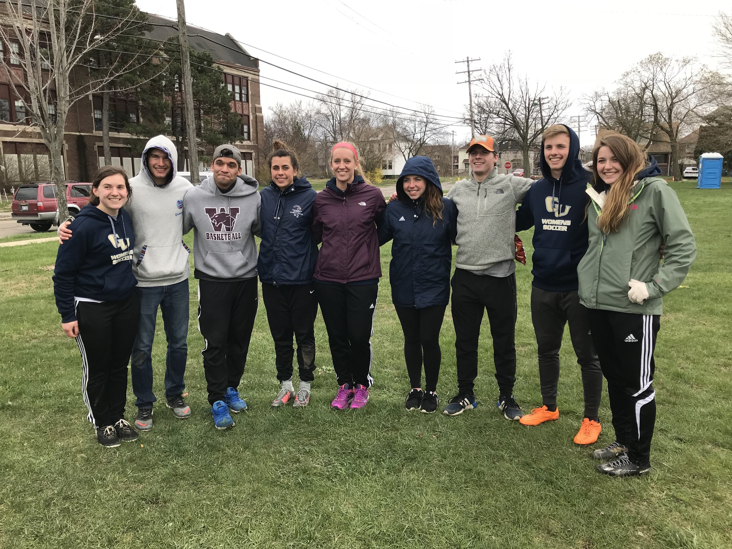 The FSI team comprised of Men's & Women's Cornerstone Soccer Players