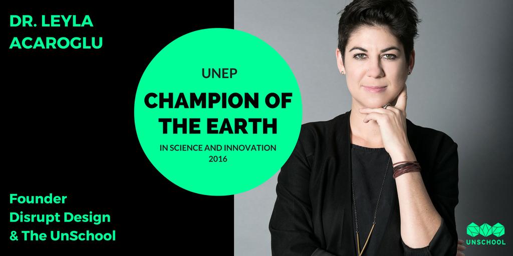 Leyla Acaroglu UNEP Champion of the Earth