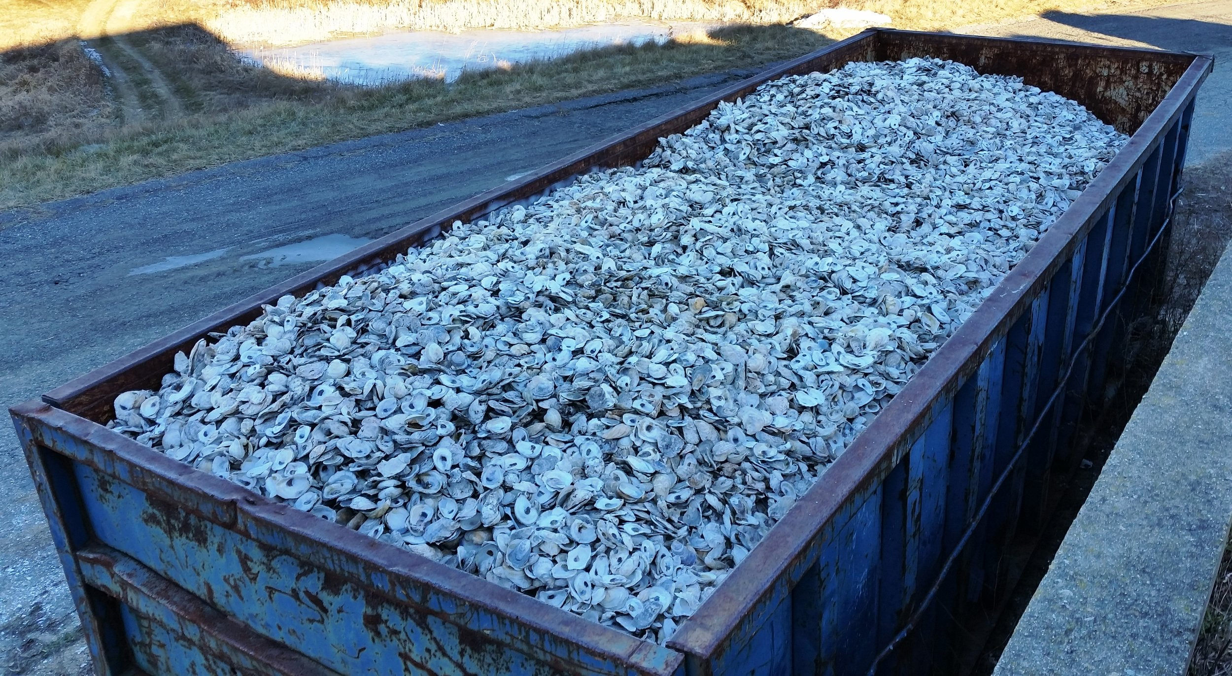 The roll off container supplied by Harding Metals.