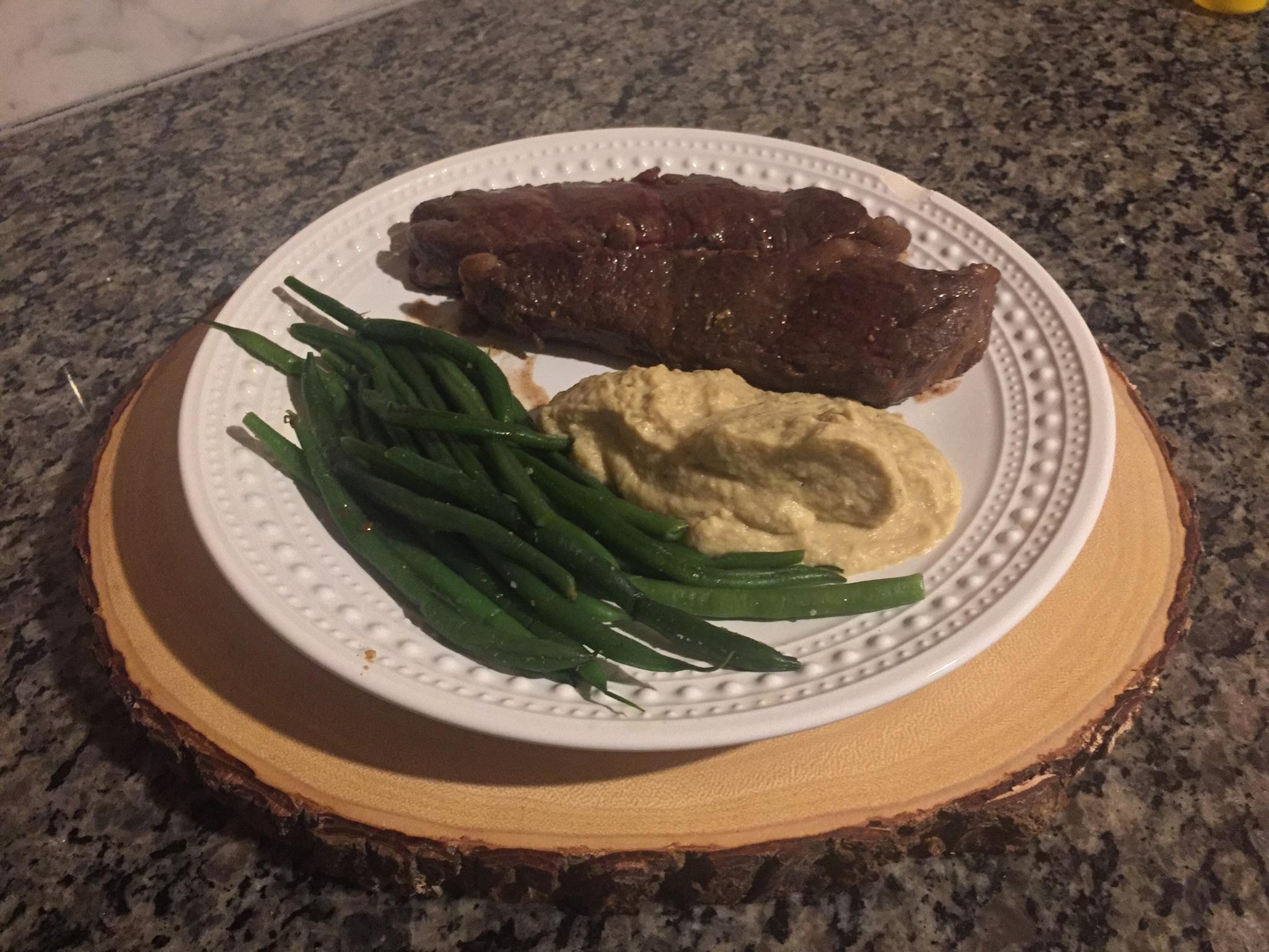 Steak, Mashed Potatoes, and Gravy