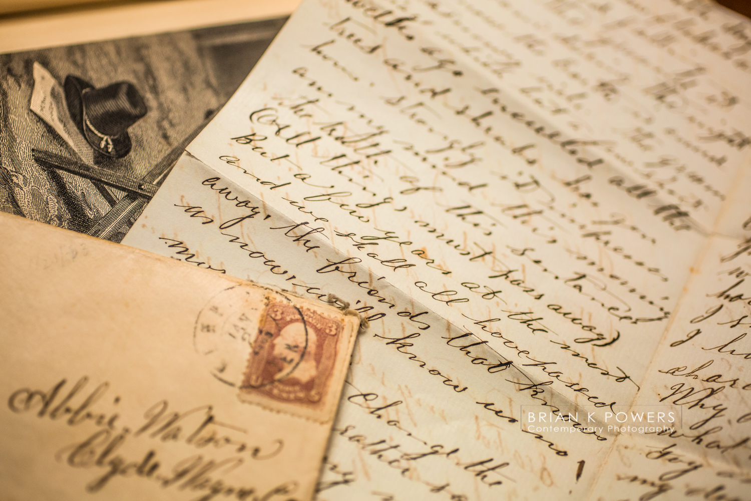 Civil war letter found in a book donated to Portage Library