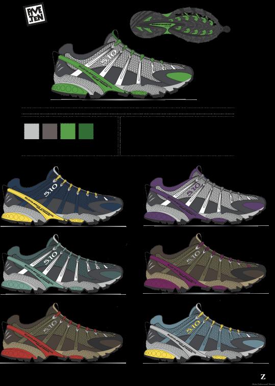 FiveTen  Approach Shoe color project.