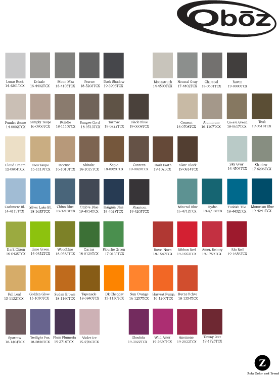 Oboz   Palette created for use on both men's and women's hiking, trail running, and urban footwear.