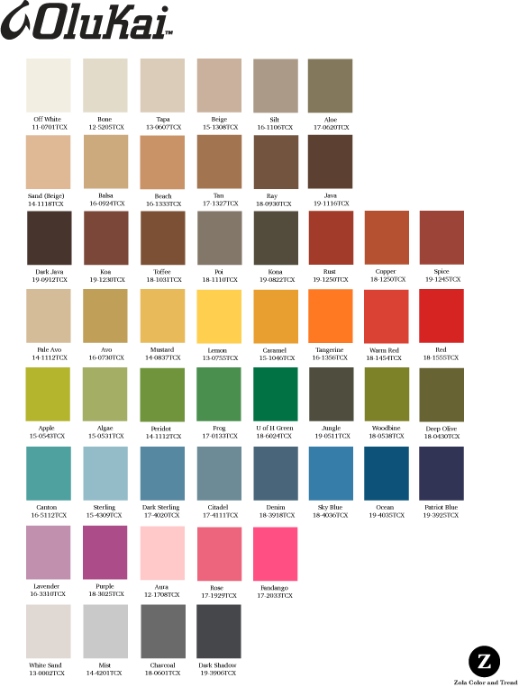 Olukai   Palette created for use on leather flip flops and casual footwear.
