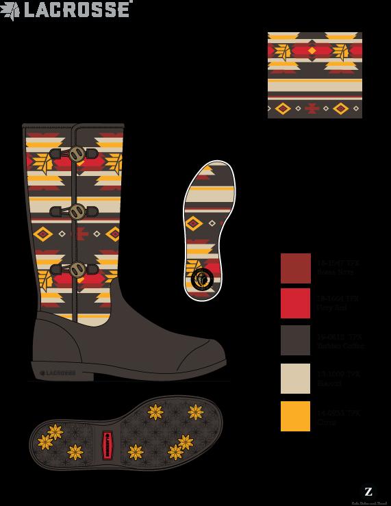LaCrosse Lifestyle  Women's knit/rubber boot