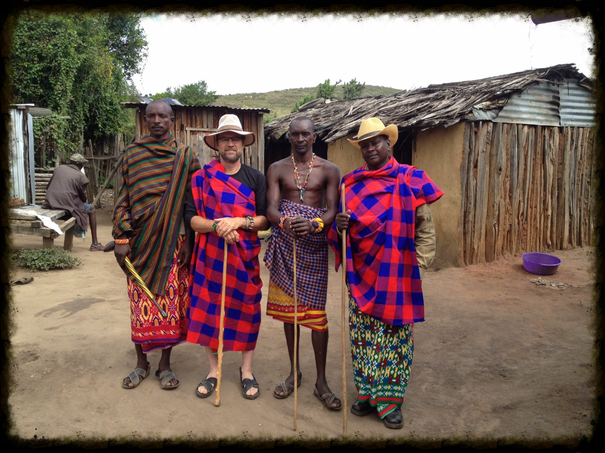 My dear Samburu friends. The man with the cowboy hat is Jama and I am the one wearing the other hat! Haha! His brother Lateet is between us and the man to my right is his friend.