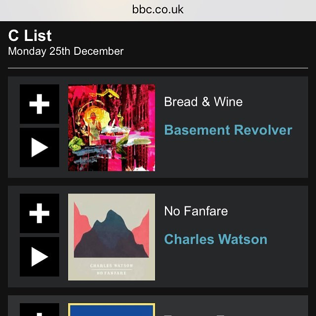 Very BIG love to @bbc6music for adding 'Bread & Wine' to the C List playlist. We are absolutely so thankful 🍞 🍷 🙏