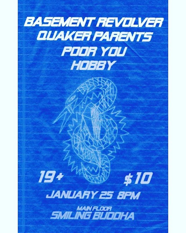This Thursday we hope to see you in Toronto @thesmiling_buddha with new friends @quakerparents and @awepooryou and Hobby 🌚