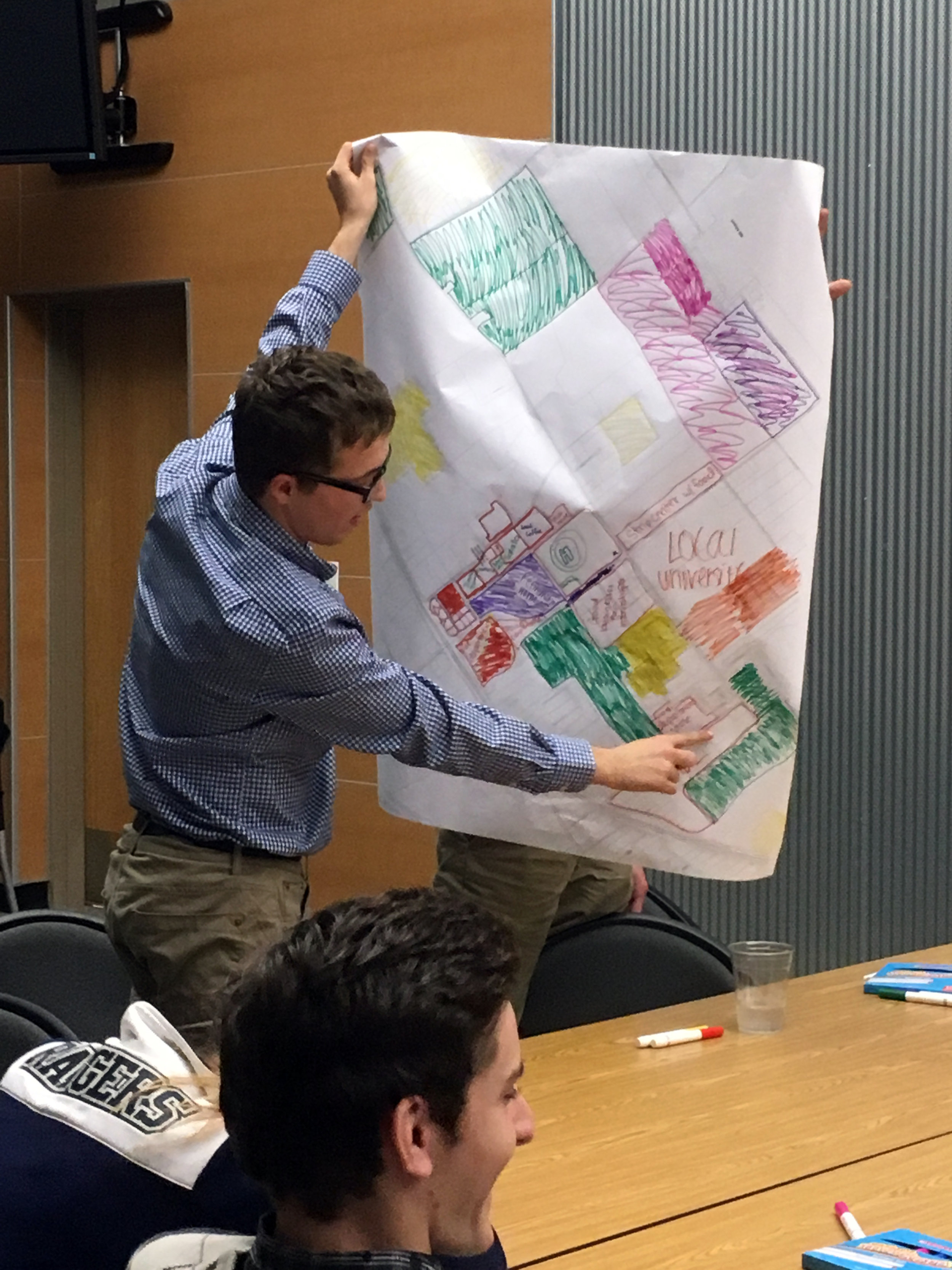 Then, each student team shared their visions and land use strategies with the group.