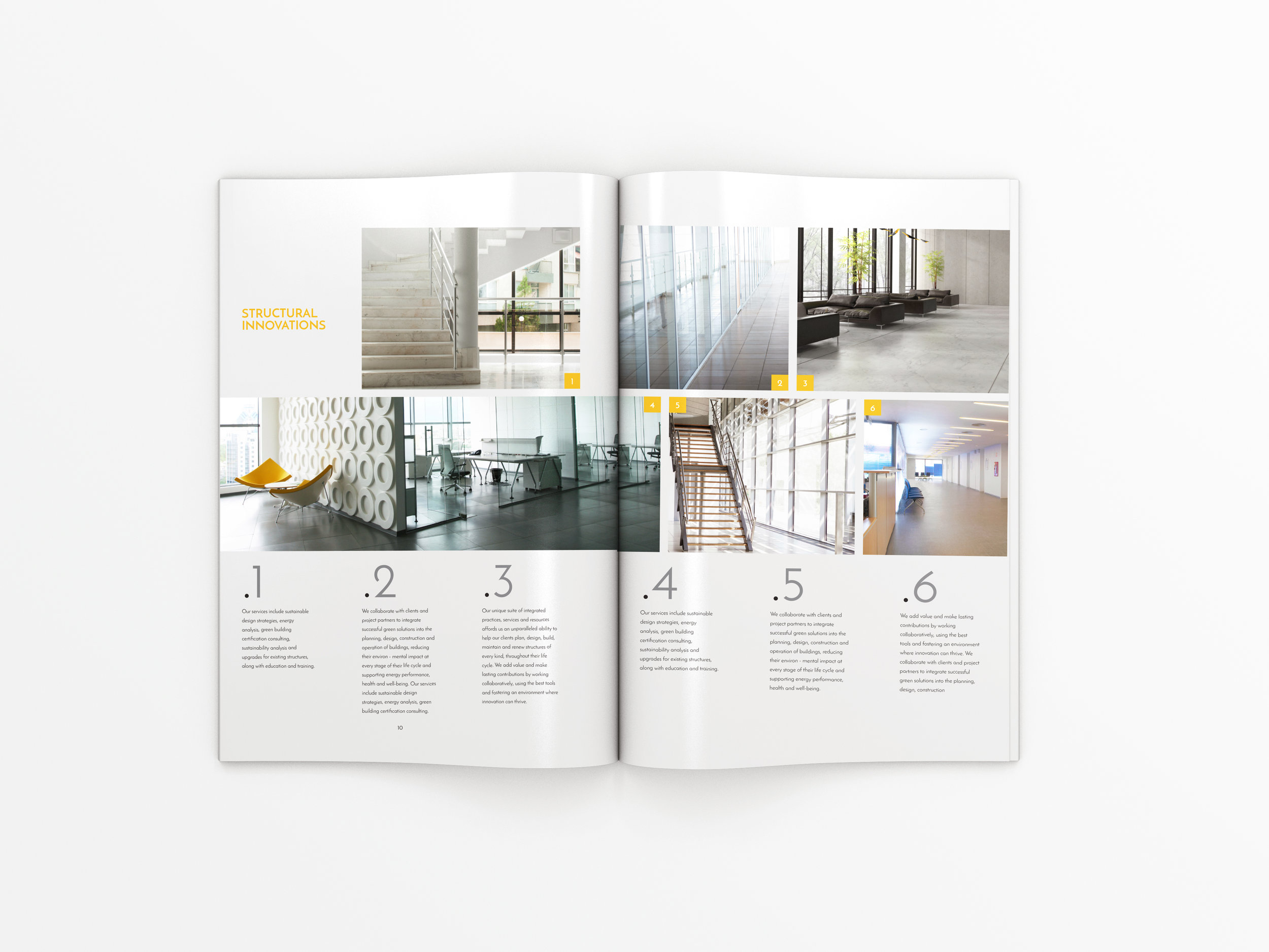 Architectural Magazine Spread Design